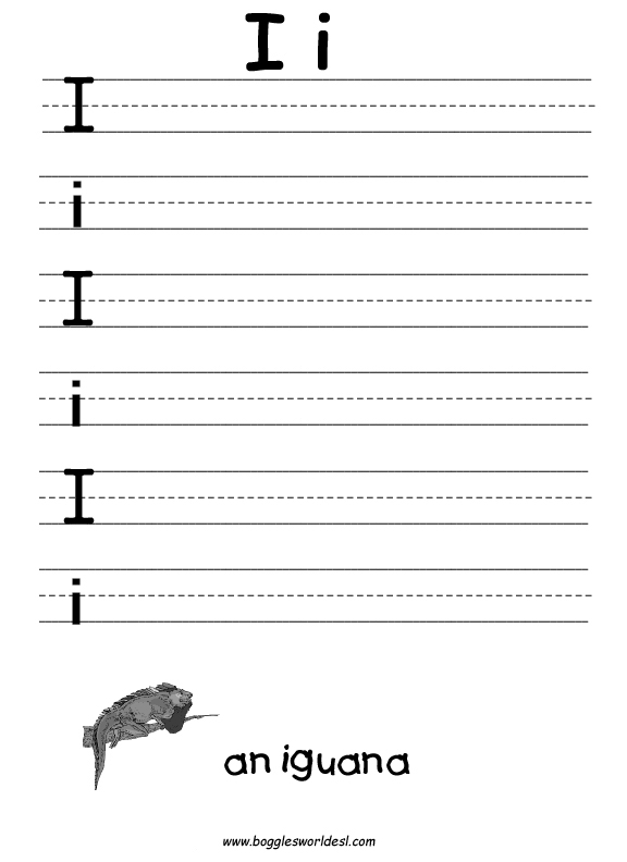 Preschool Worksheets With The Letter I  1006472