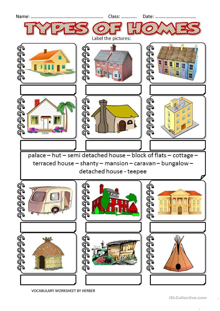 Primaryleapcouk Different Types Of Homes Worksheet, Different