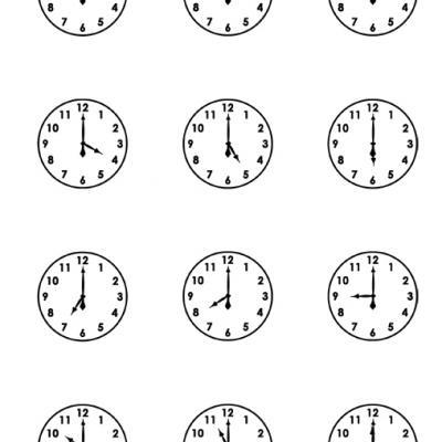 Printable Clock Faces {free Printable Worksheets}