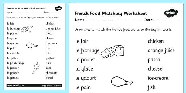 Printable French Worksheets For Beginners Grade 1 Activity