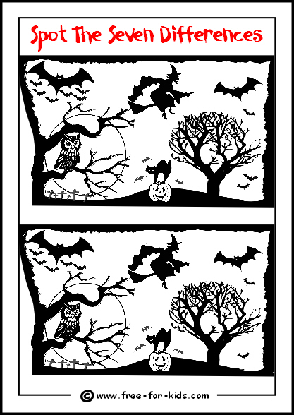 Printable Halloween Activities For Children