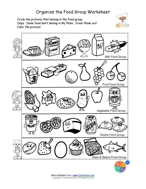 Printable Health Worksheets For Kindergarten