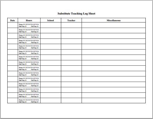 Printable Teacher Worksheets