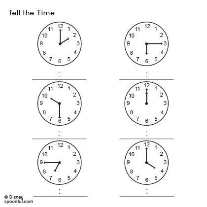 Printable Telling Time Worksheets Worksheets For All