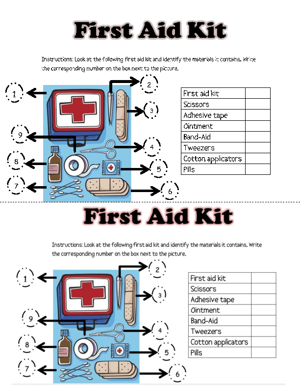 Printables  First Aid Worksheets For Kids  Surveillanceandeveryday