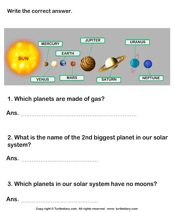 Questions On Solar System Worksheet