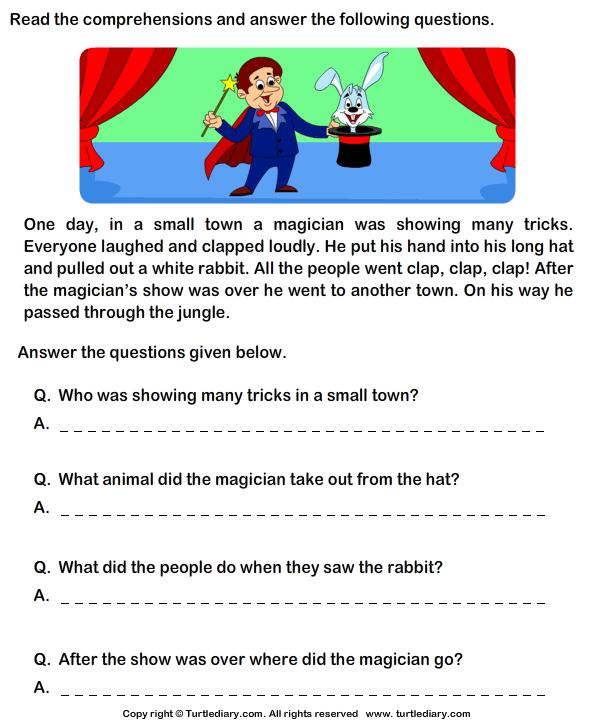 Reading Comprehension Worksheets Grade 1 246606