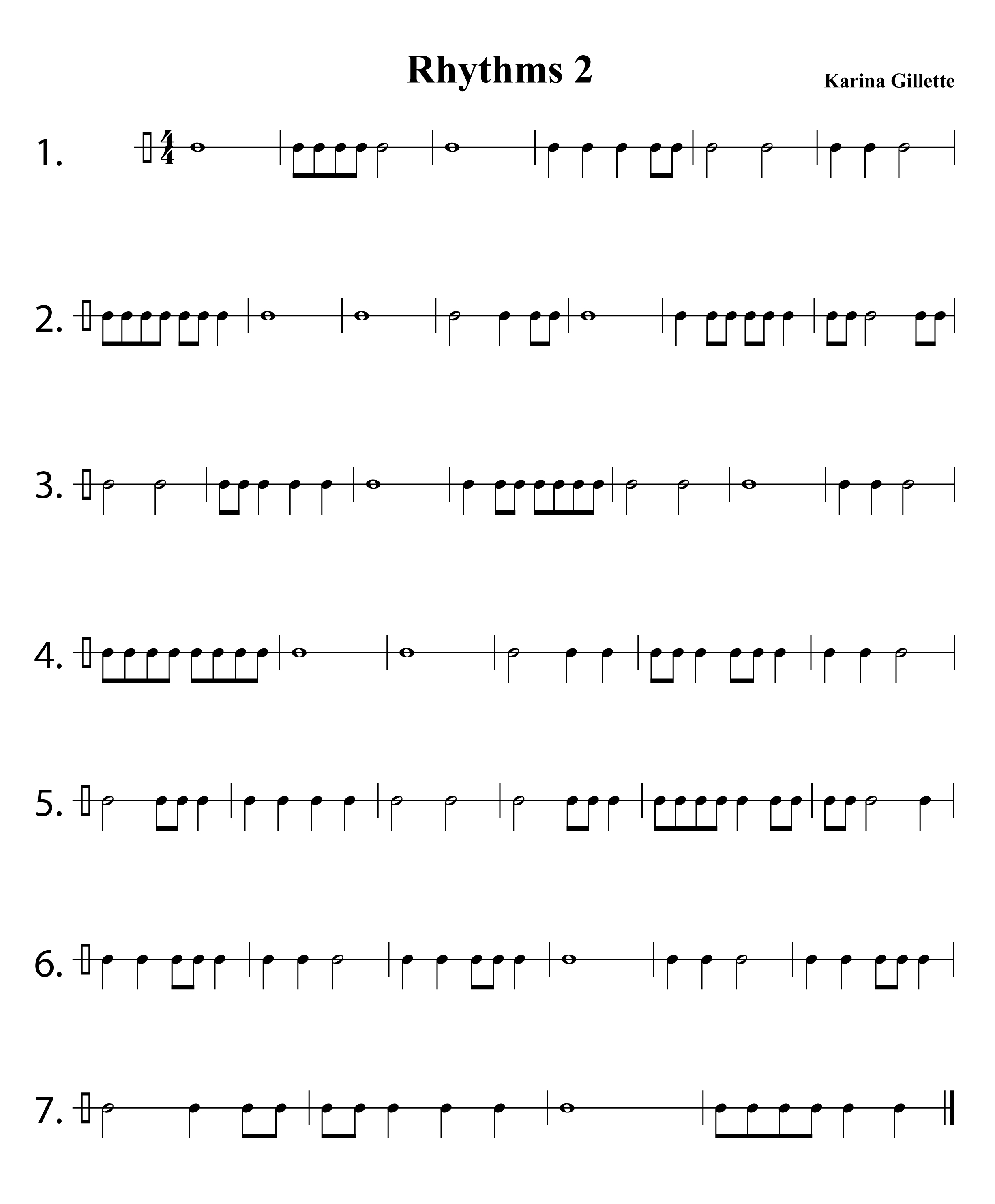Rhythm Worksheets For Middle School