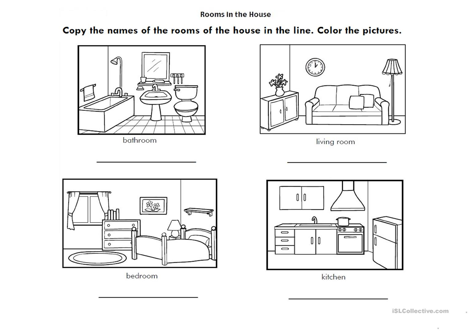 Rooms In The House Worksheets For Preschool 796194