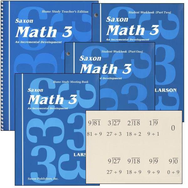 Saxon Math 3 Home Study Kit, Saxon Publishers, 018401