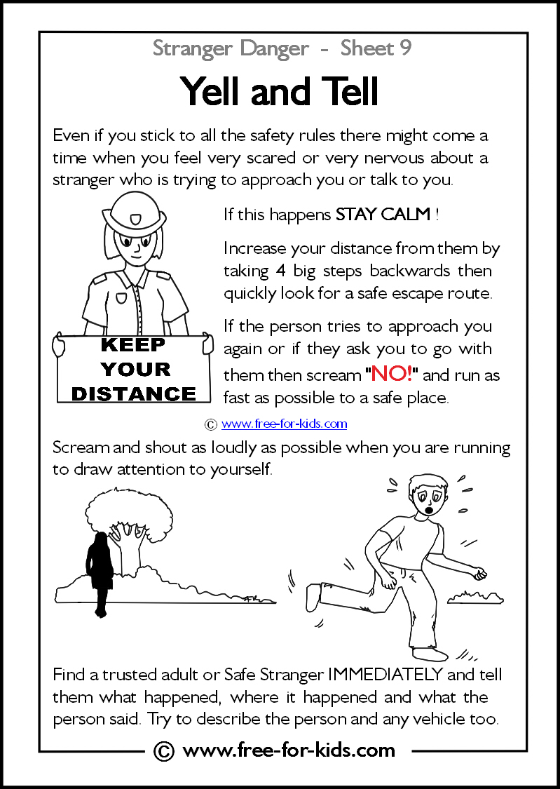Scarce Stranger Danger Coloring Pages Now More Worksheets And