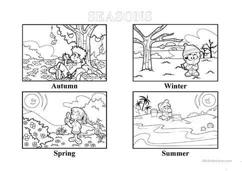 Seasons Worksheet