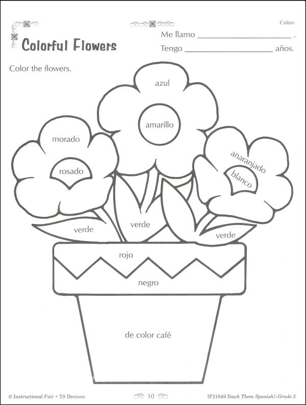 Second Grade Math Worksheets In Spanish 565803