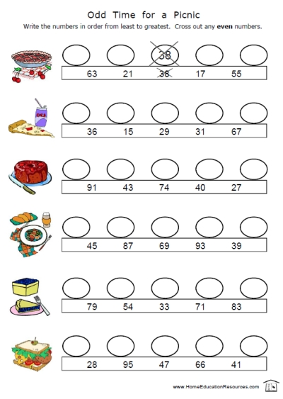 Second Grade Math Worksheets Odd And Even  770587