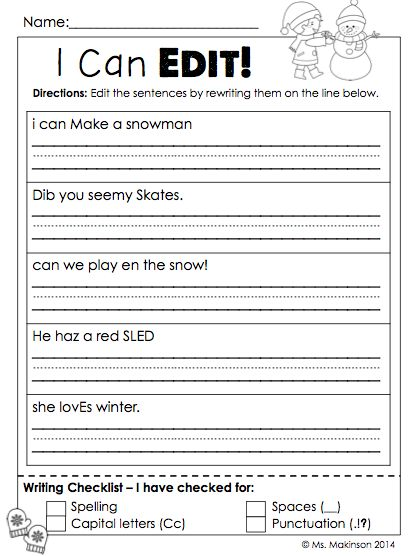 Sentence Editing Worksheets Free Worksheets Library Download And
