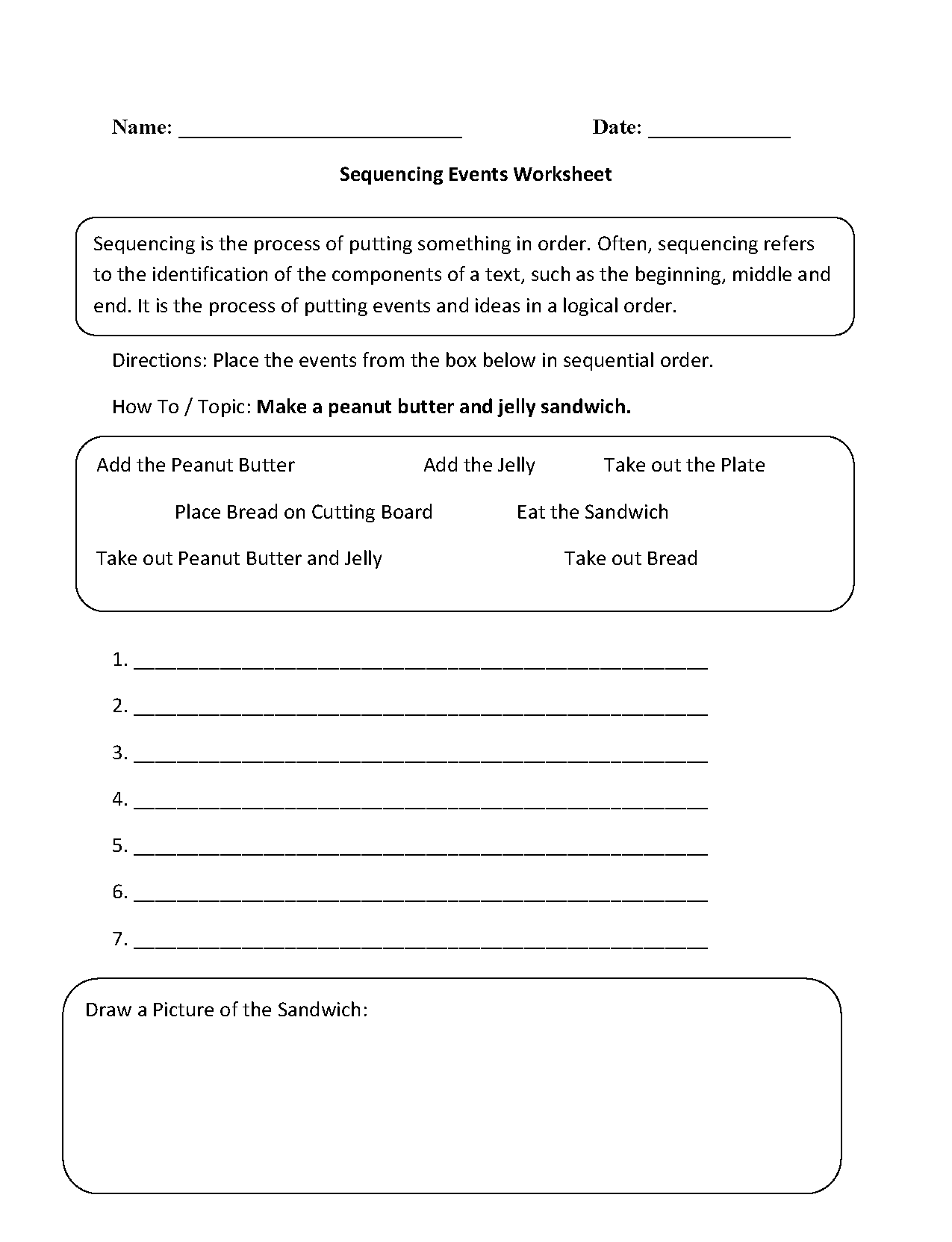 Sequence Math Worksheets For 3rd Grade 667084