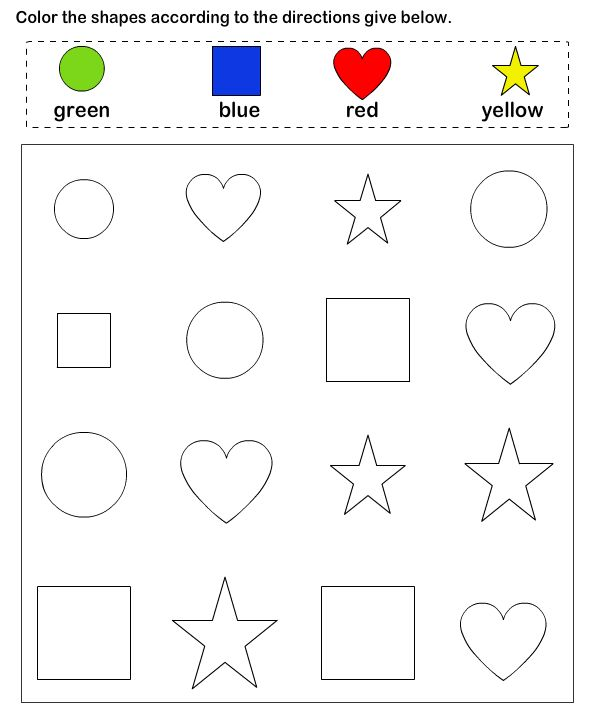 Shapes Math Worksheets Preschool Worksheets Educational Coloring