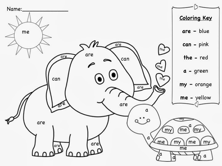 Sight Word Coloring Pages Free Printable Sight Word Coloring Pages