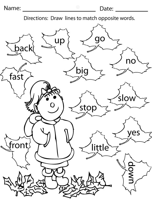 Sight Word Coloring Worksheets For Kindergarten 479131