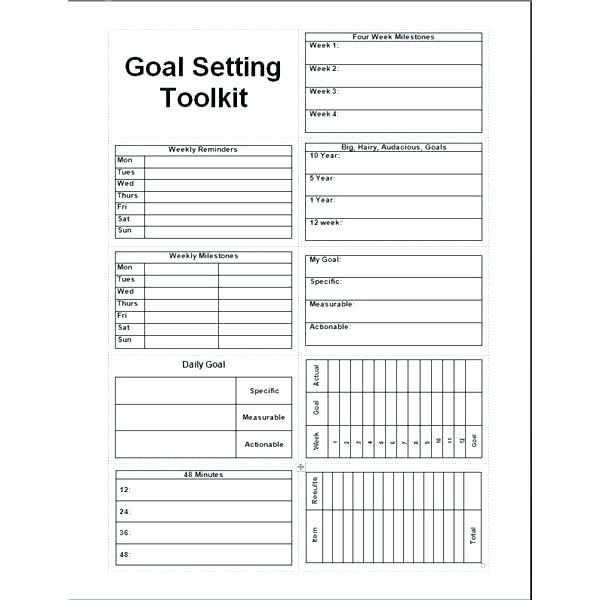 Smart Goal Setting Worksheet Smart Goal Setting Worksheet For