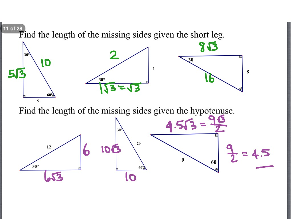 Solving Right Triangles Worksheet Lesson 8 3 1375709