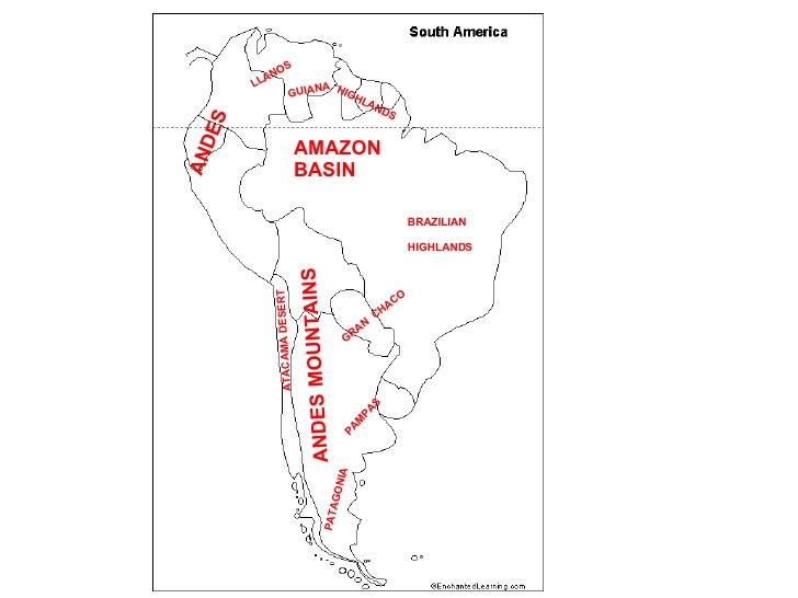 South America Worksheet 440021
