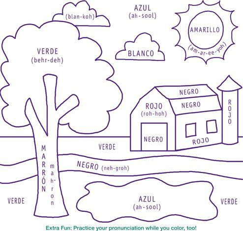 Spanish Coloring Worksheets For Kindergarten