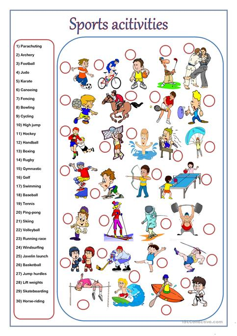 Sport Activities Worksheet