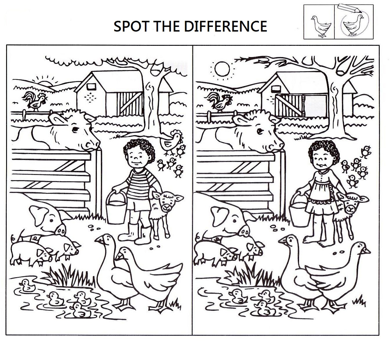 Spot The Difference Worksheets For Kids Activity Shelter, Kids