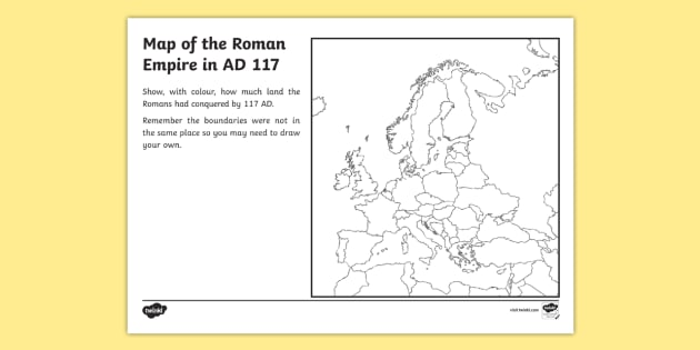 Spread Of The Roman Empire Map Worksheet