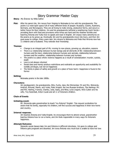 Story Grammar Worksheet The Best Worksheets Image Collection