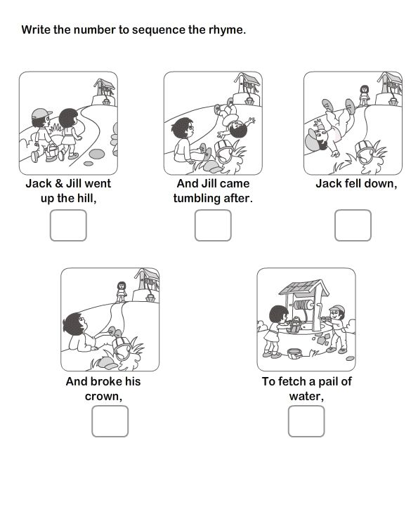 Story Sequencing Worksheets For Kindergarten 521377
