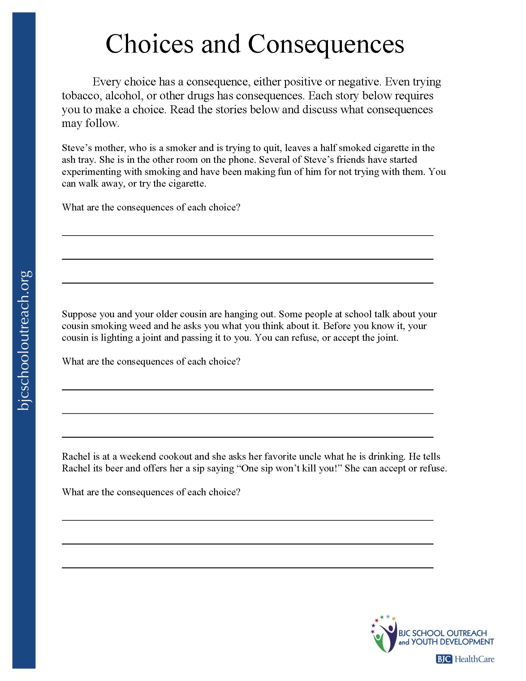 Substance Abuse Group Worksheets  340947