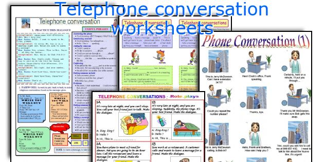 Telephone Conversation Worksheets