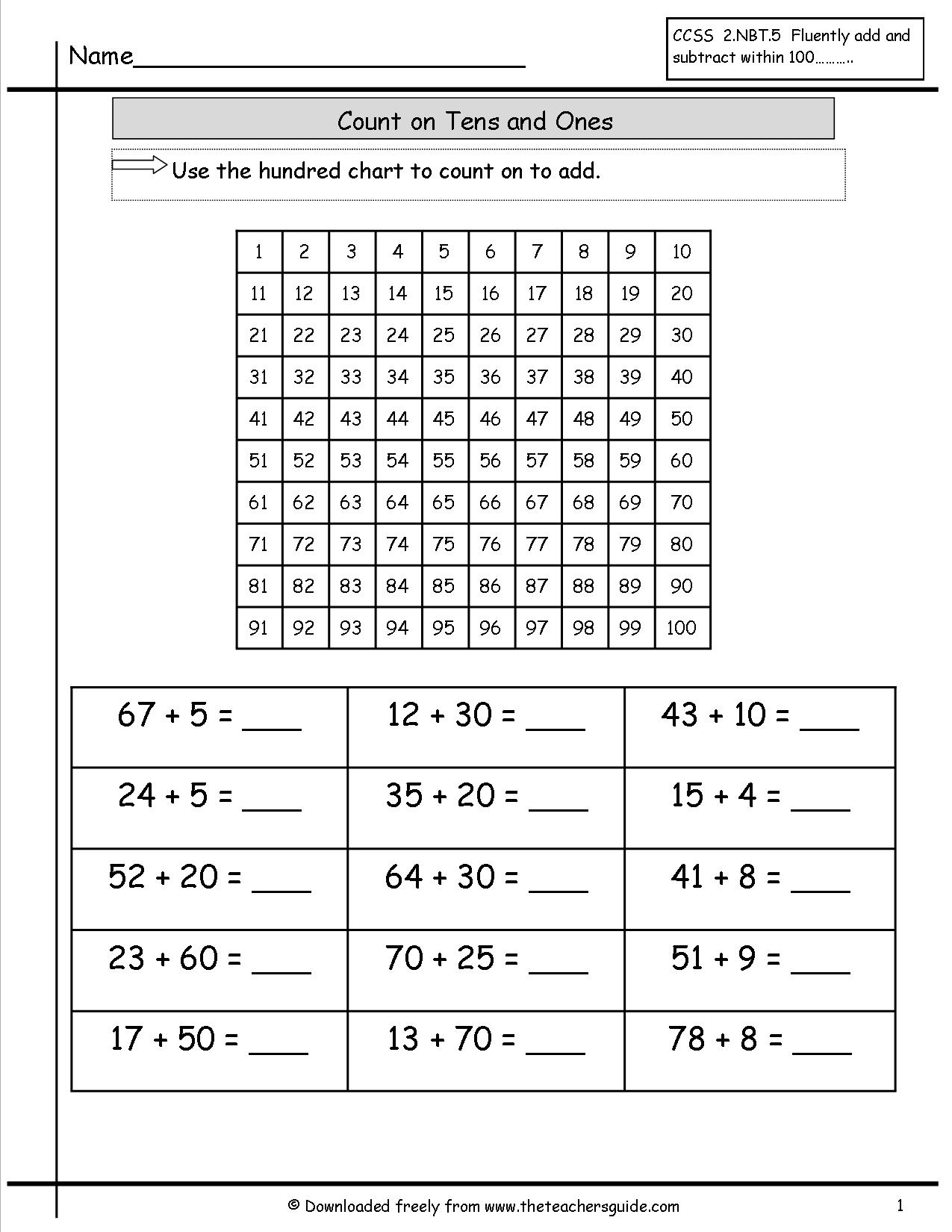 Tens And Units Worksheets Grade 2 Choice Image