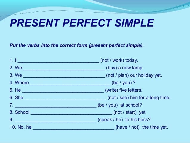 Tenses Worksheets For 5th Grade