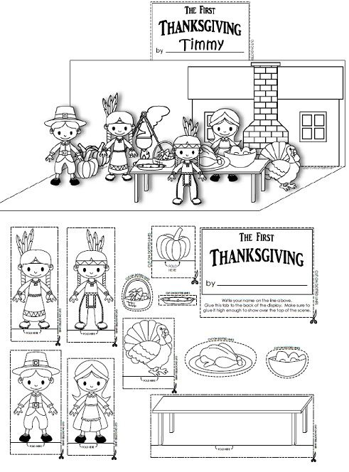 Thanksgiving Diarama Craft For Kids  Introduction To Diaramas