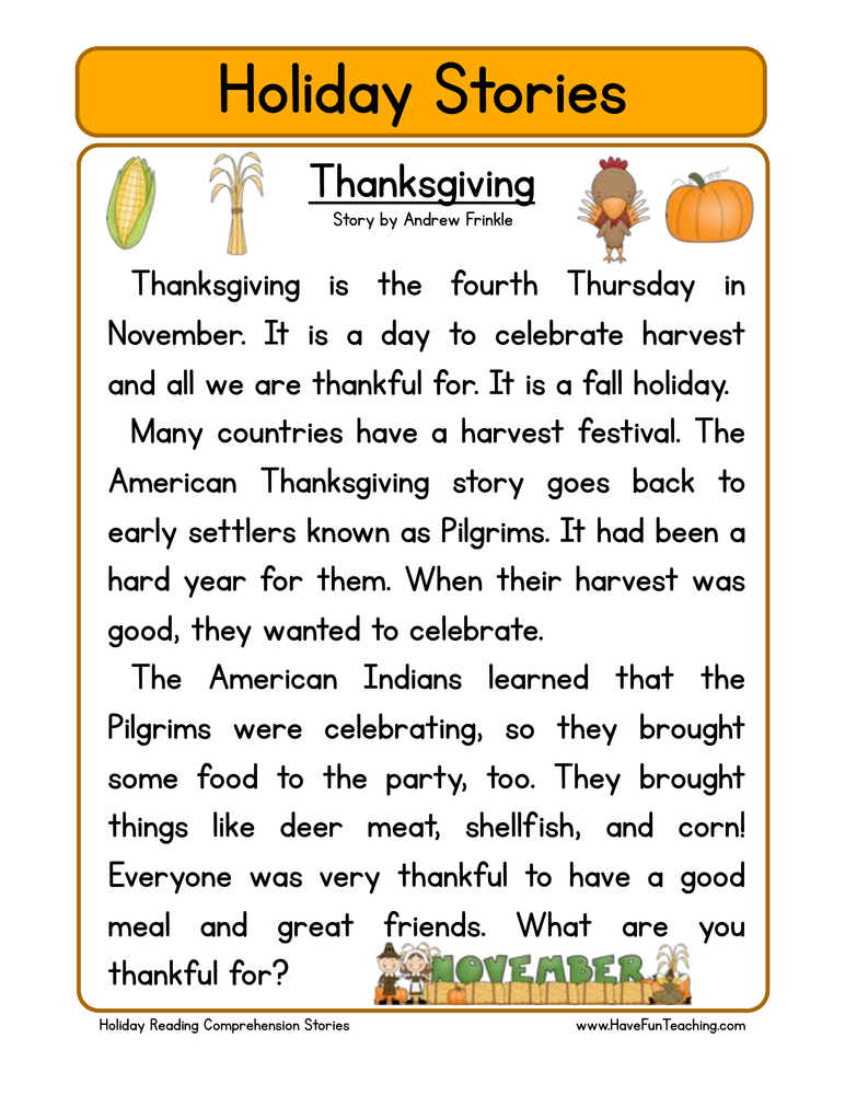 Thanksgiving Worksheets For Second Grade 27457