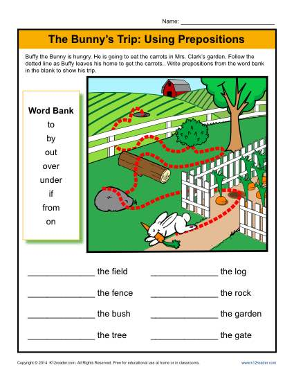 The Bunny's Trip  Using Prepositions