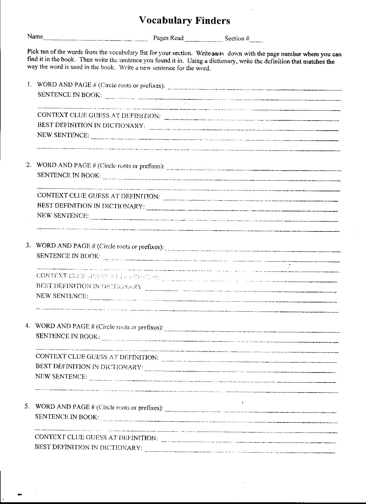 The Giver Vocabulary Worksheets Answers The Best Worksheets Image