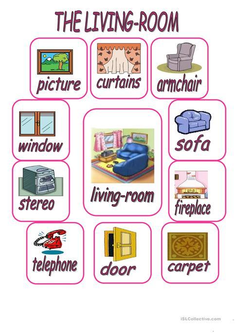 The Living Room Worksheet