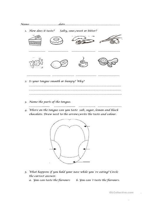 The Tongue Worksheet