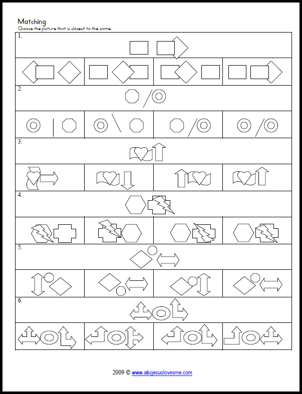 Tons Of Printable Matching, Tracking, Copying, And Patterning