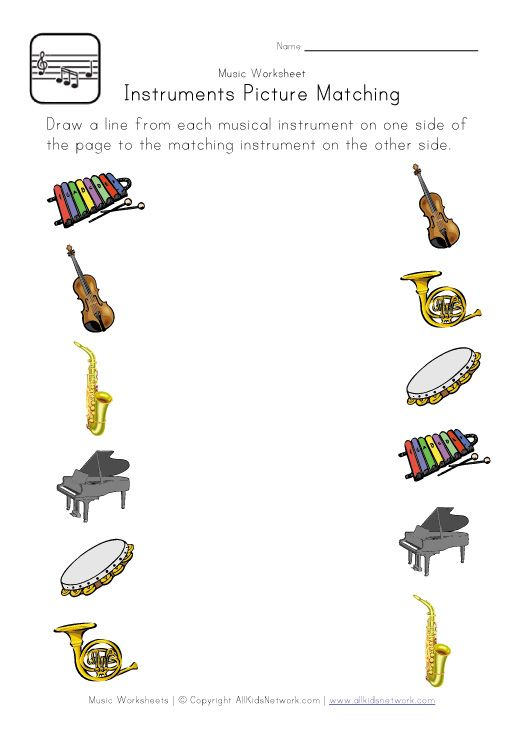 Tons Of Worksheets (from Music, Alphabet, Math, Season, Animals