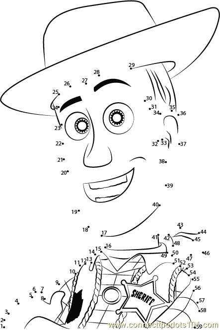 Toy Story Trusted One Dot To Dot Printable Worksheet