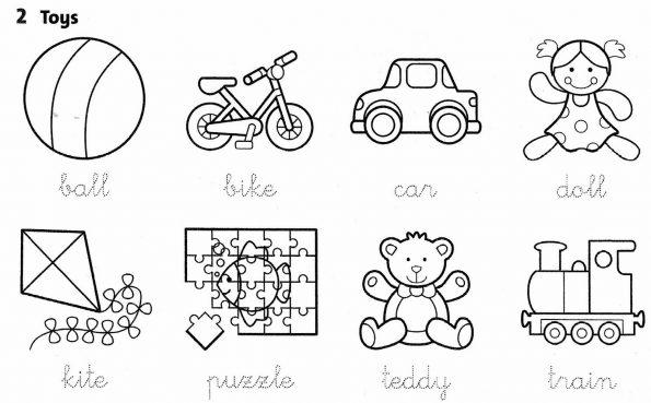 Toys Worksheets For Kindergarten