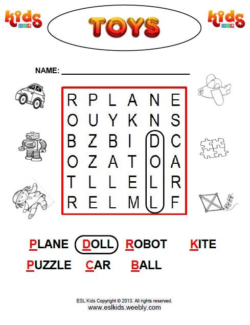 Toys Worksheets For Preschool 588494