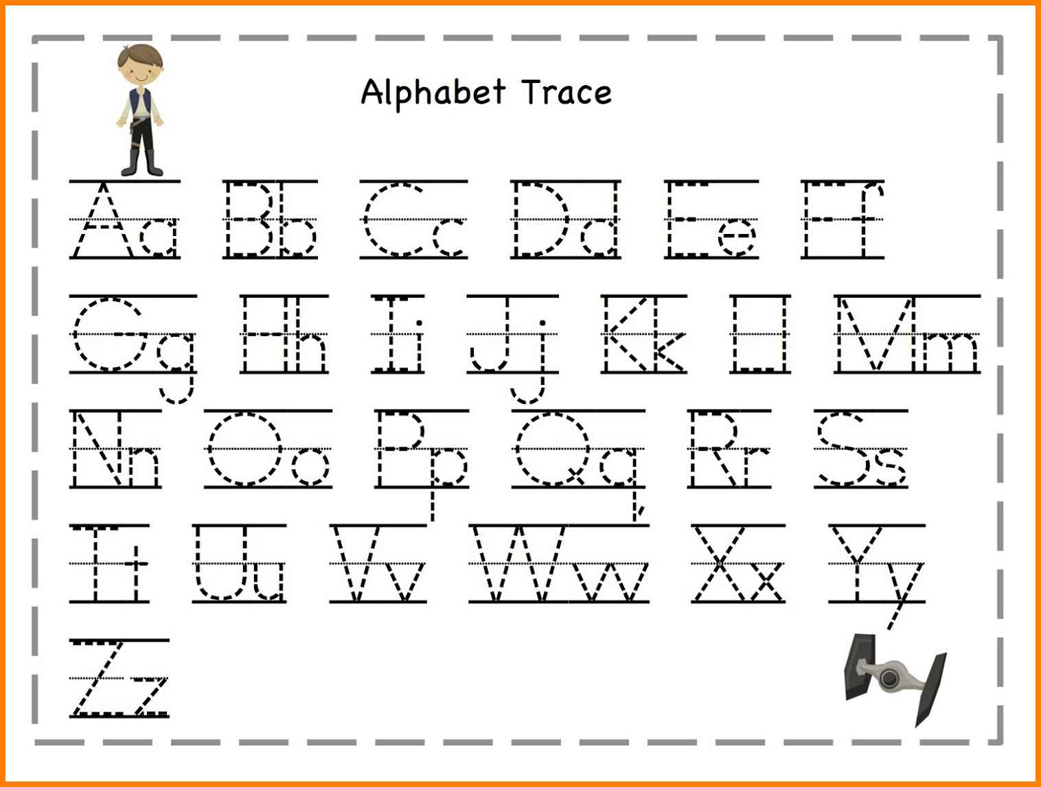 Trace The Letters Of The Alphabet Worksheet  1182517