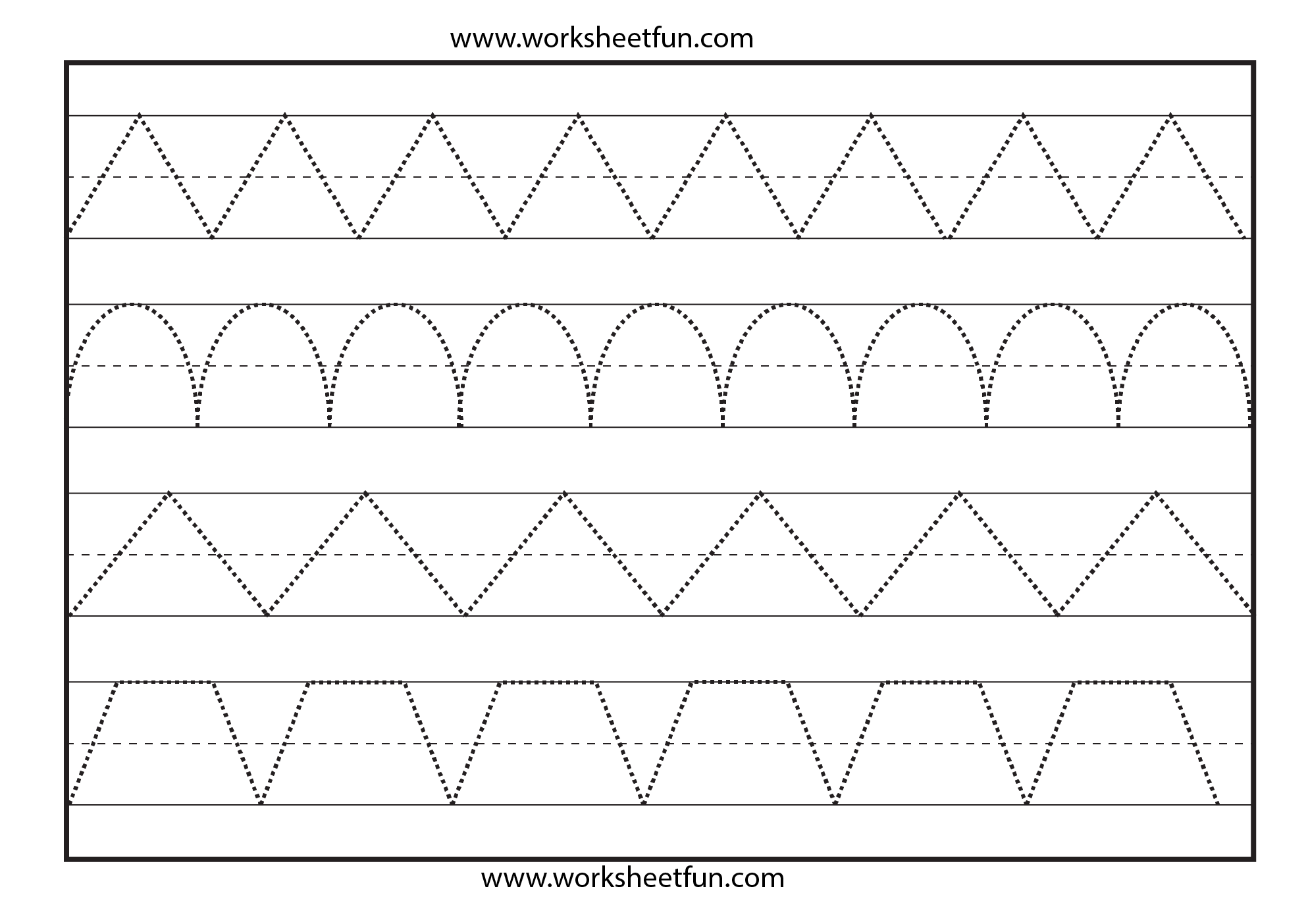 Trace Worksheet Printables