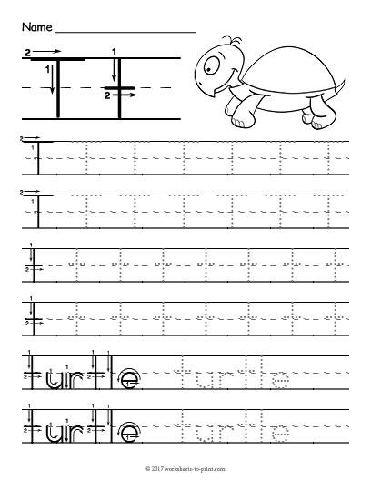 Tracing Letter T Worksheet